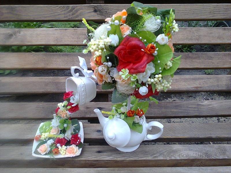 Чашки с цветами своими руками фото 13
