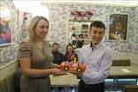 3е место:Ксения, Эльдар и Молния Маквин