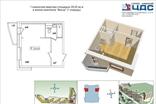 Пример планировки квартиры-студии в первой очереди ЖК Весна, Петербург