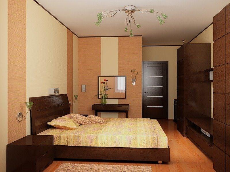 Дизайн прямоугольной спальни 15 кв.м фото